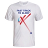 Men´s T-shirt Fast track floorball - white