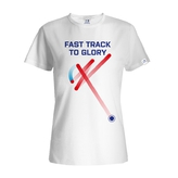 Women´s T-shirt Fast track floorball - white