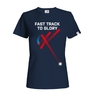 Women´s T-shirt Fast track floorball - navy