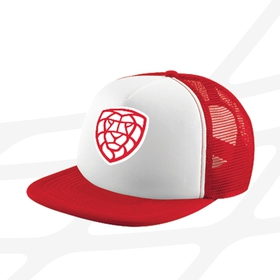 Kid´s snap cap trucker CF logo - red