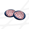 Badge Czech floorball logo - blue