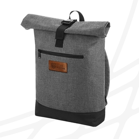Roll-up backpack with leather label CF
