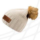 Beanie for women with leather label CF