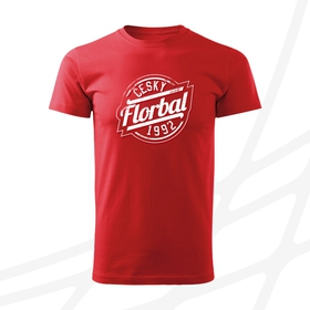 Men's t-shirt with round logo and text CF 1992