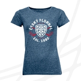 Women's t-shirt with round logo crossed sticks