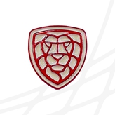 Badge with logo lion CF